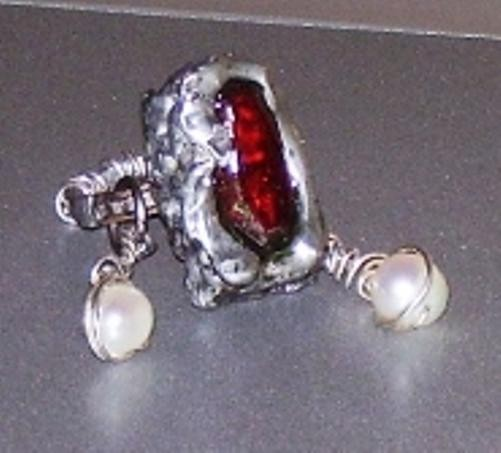 Spiritual riches,ring,gold,ruby,pearls