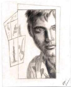 The Islander,12 x 15 cm drawing in pencil