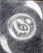 Vedute,drawing in pencil 12x15cm.