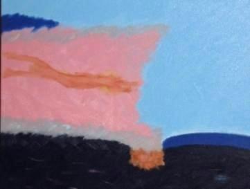 The Blue Distance,35 x 40 cm oil, canvas