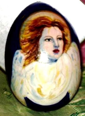 Angel,egg- decorative,11cm,wooden