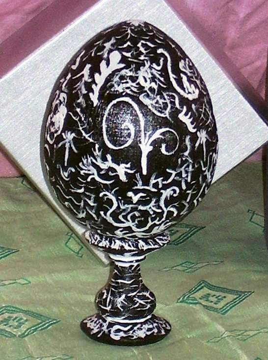 Ombra,egg- decorative,15cm,wooden
