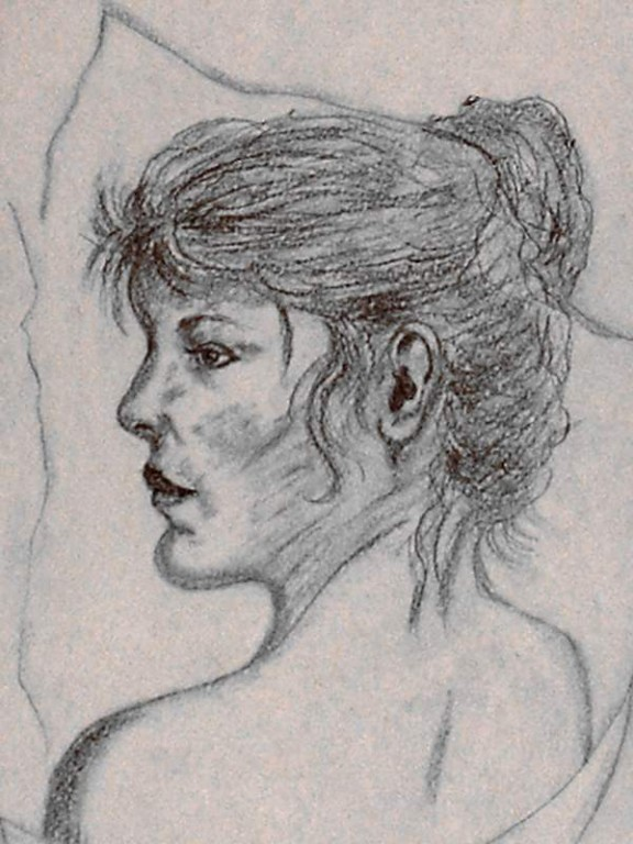 Donna,drawing in pencil 21,5 x 30 cm