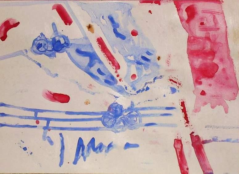 Music in the garden,gouache 41,5x29 cm