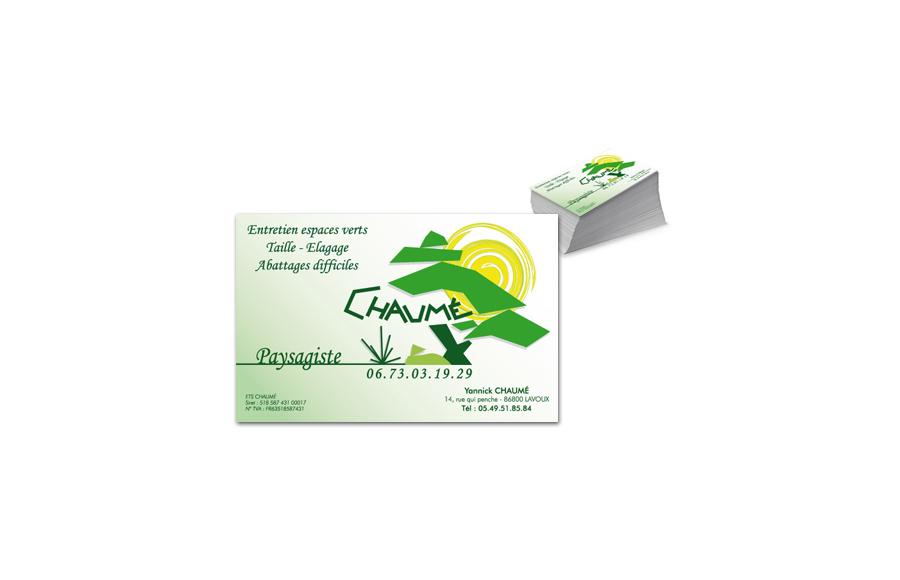 Création carte de visite - Chaumé Paysagiste - Entretien espaces verts, Élagage (86)