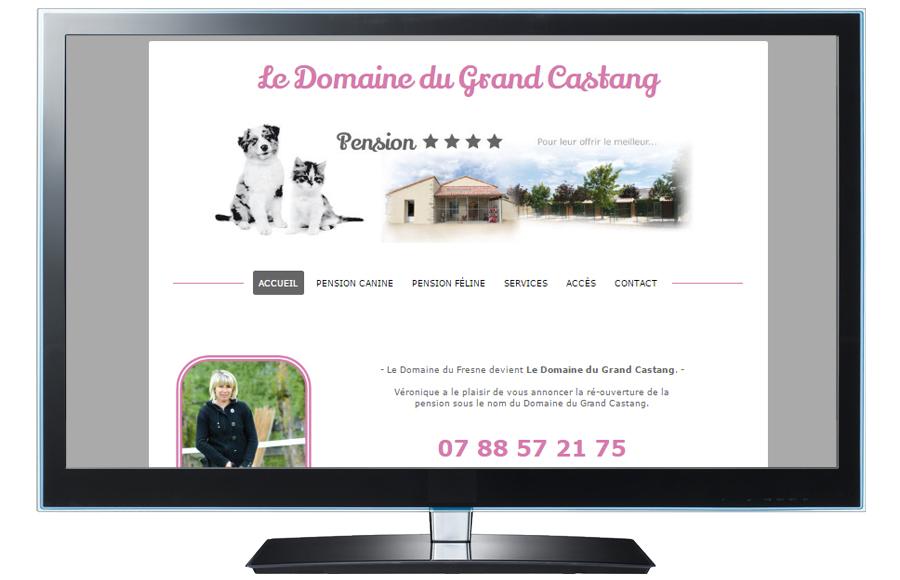Webdesign - Le Domaine du Grand Castang, Montreuil-Bonnin (86)