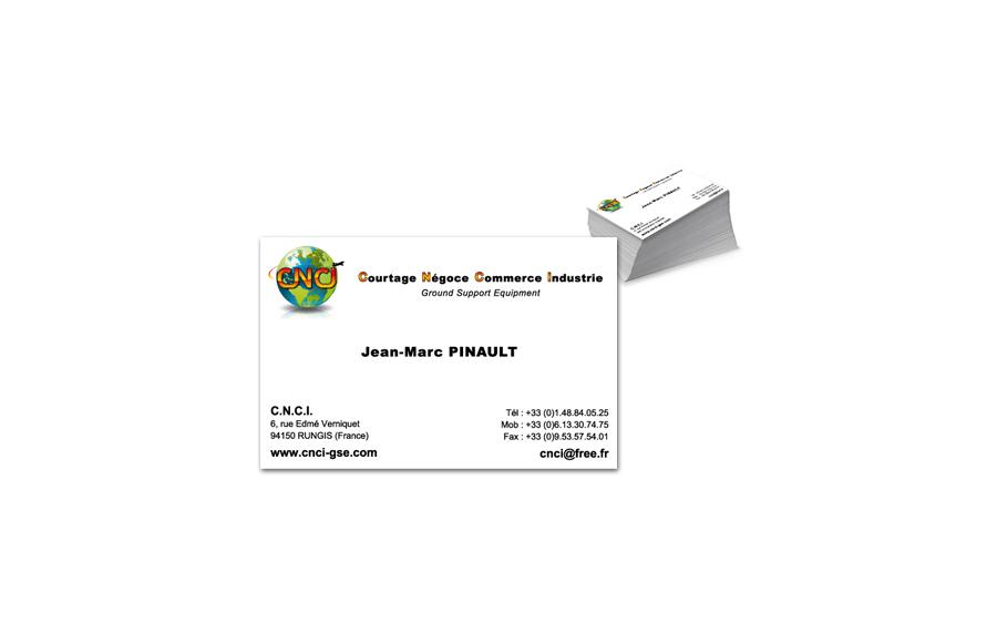 Création carte de visite - Courtage Négoce Commerce Industrie - Rungis (94)