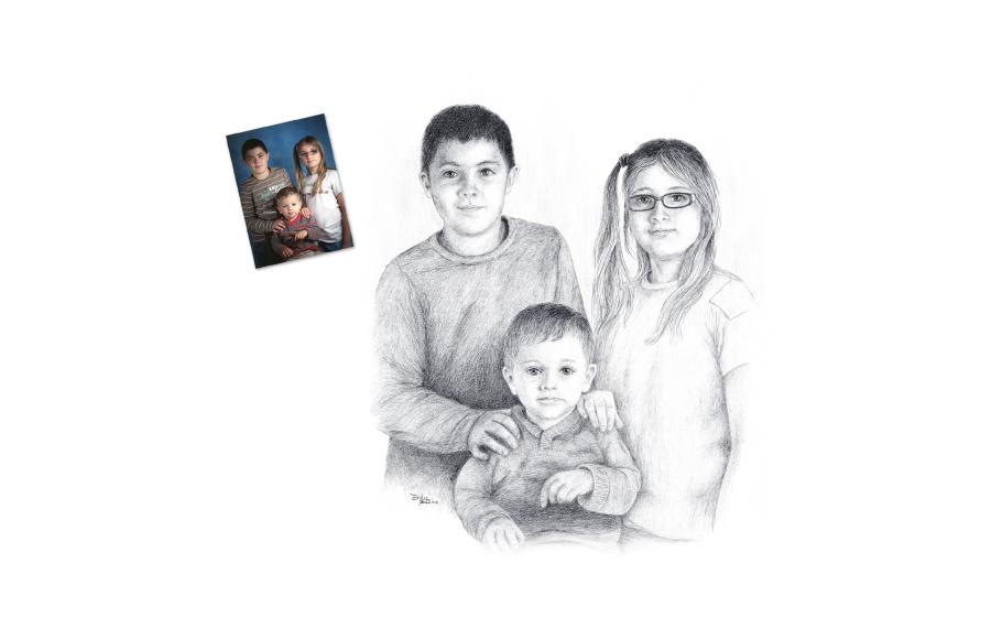 Portraits 2012 - Enfants - Format A3 (42 x 29,7 cm)