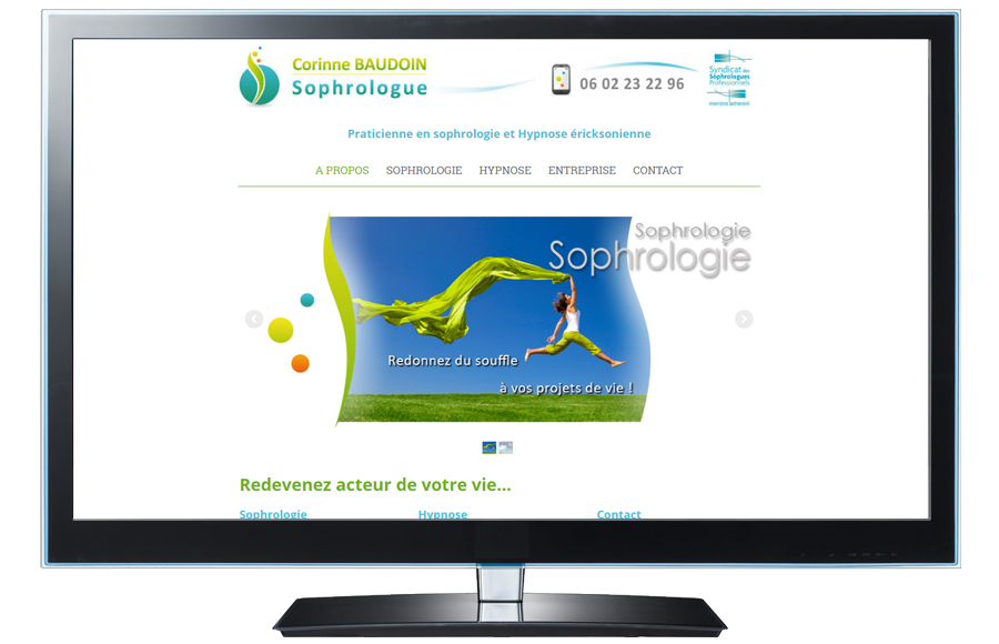 Webdesign - Corinne Baudoin / Sophrologue, Châtellerault (86)
