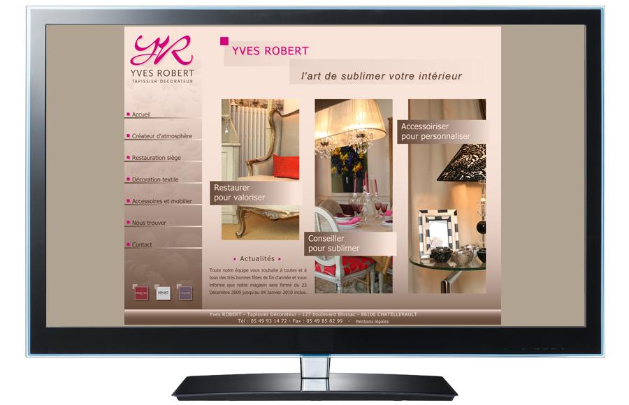 Webdesign - Yves Robert - Tapissier / Décorateur, Châtellerault (86)