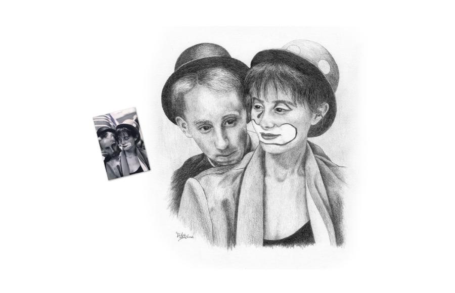 Portraits 2012 - Couple - Format A4 (21 x 29,7 cm)