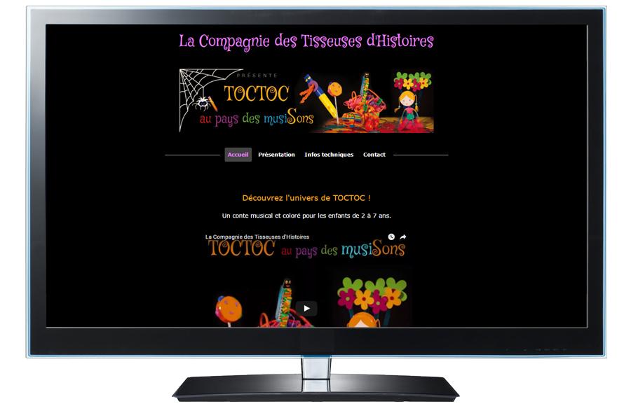 Webdesign - Compagnie Les Tisseuses d'Histoires, Puy-de-Dôme (63)