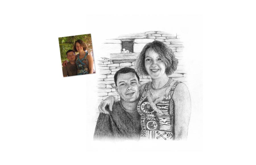 Portraits 2010 - Couple - Format A4 (21 x 29,7 cm)