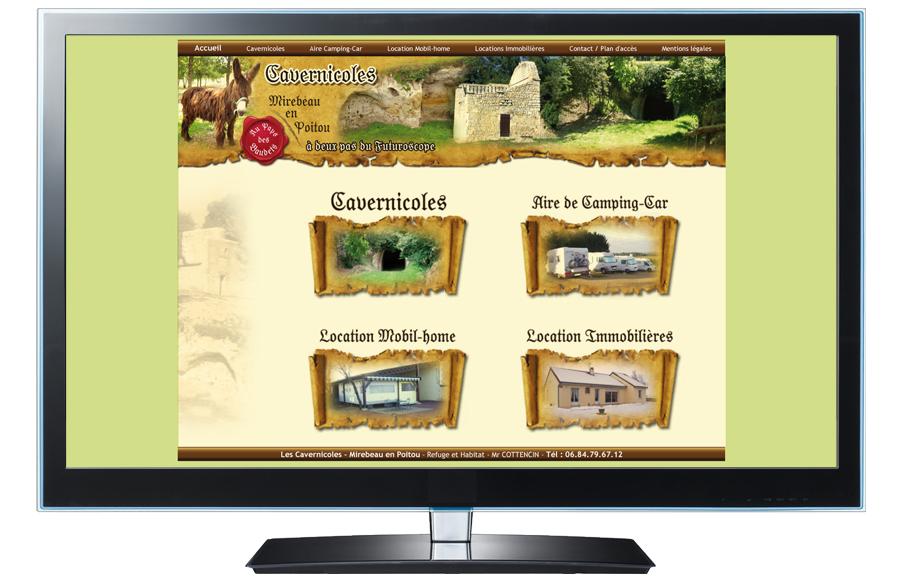 Webdesign - Cavernicoles, Mirebeau (86)
