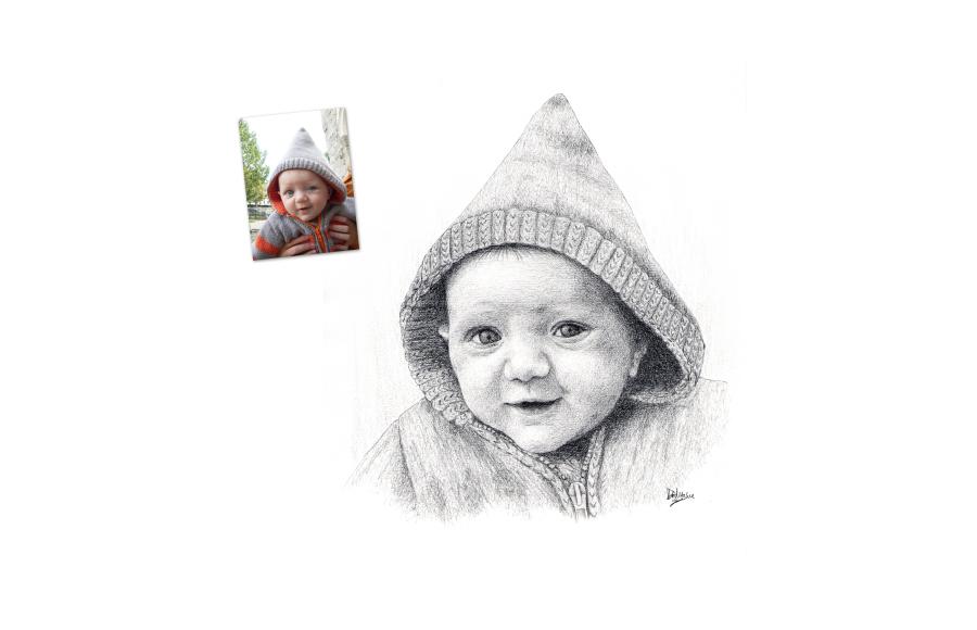 Portrait 2012 - Petit garçon- Format A4 (21 x 29,7 cm)