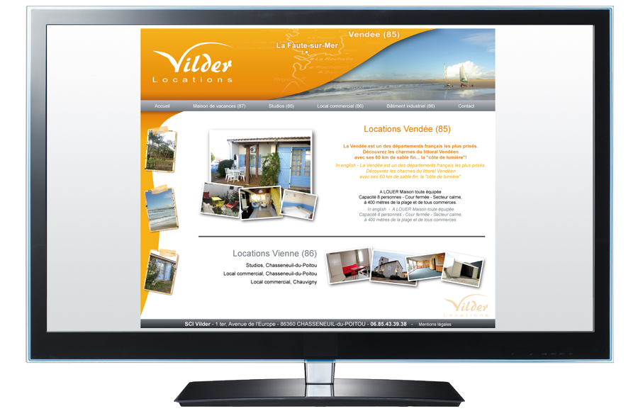 Webdesign - Vilder Locations, Vendée (85)