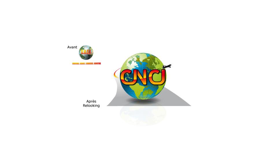 Relooking logo - CNCI Courtage Négoce Commerce Indutrie - Matériels pour aéroports - Rungis (94)