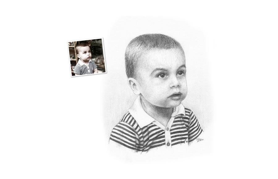 Portrait 2011 - Petit garçon- Format A4 (21 x 29,7 cm)