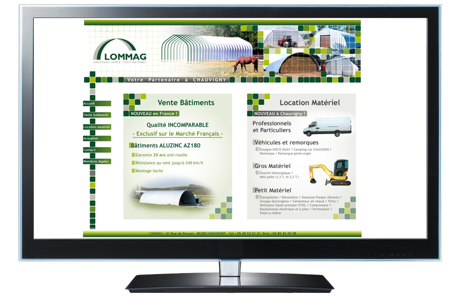 Webdesign - Lommag, Chauvigny (86)