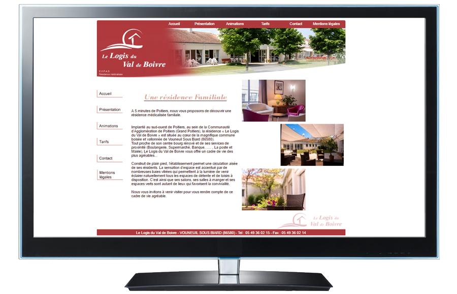 Webdesign - Le Logis du Val de Boivre (86)