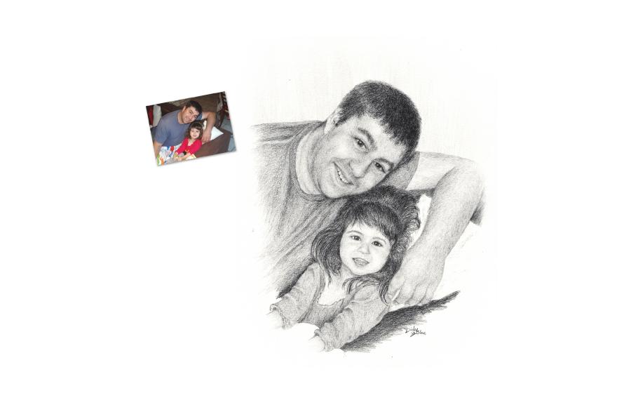 Portraits 2013 - Parent / Enfant - Format A4 (21 x 29,7 cm)