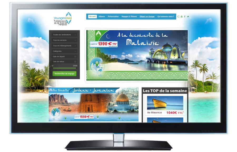 Webdesign - Sakina Voyages, Val-de-Marne (94)