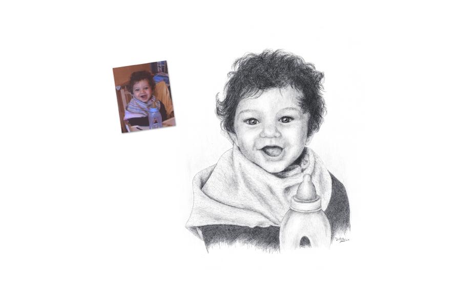 Portrait 2012 - Petit garçon - Format A3 (42 x 29,7 cm)