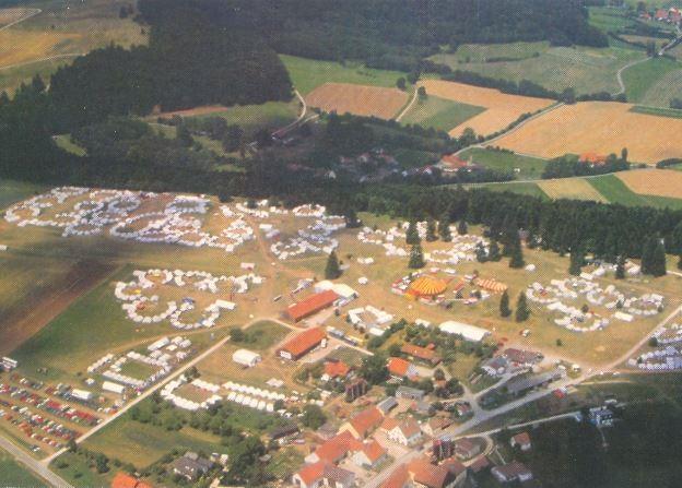 Reinwarzhofen Luftaufnahme IFM-Camp 1994