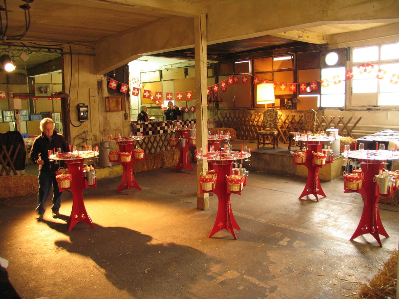 Fondue-Tisch