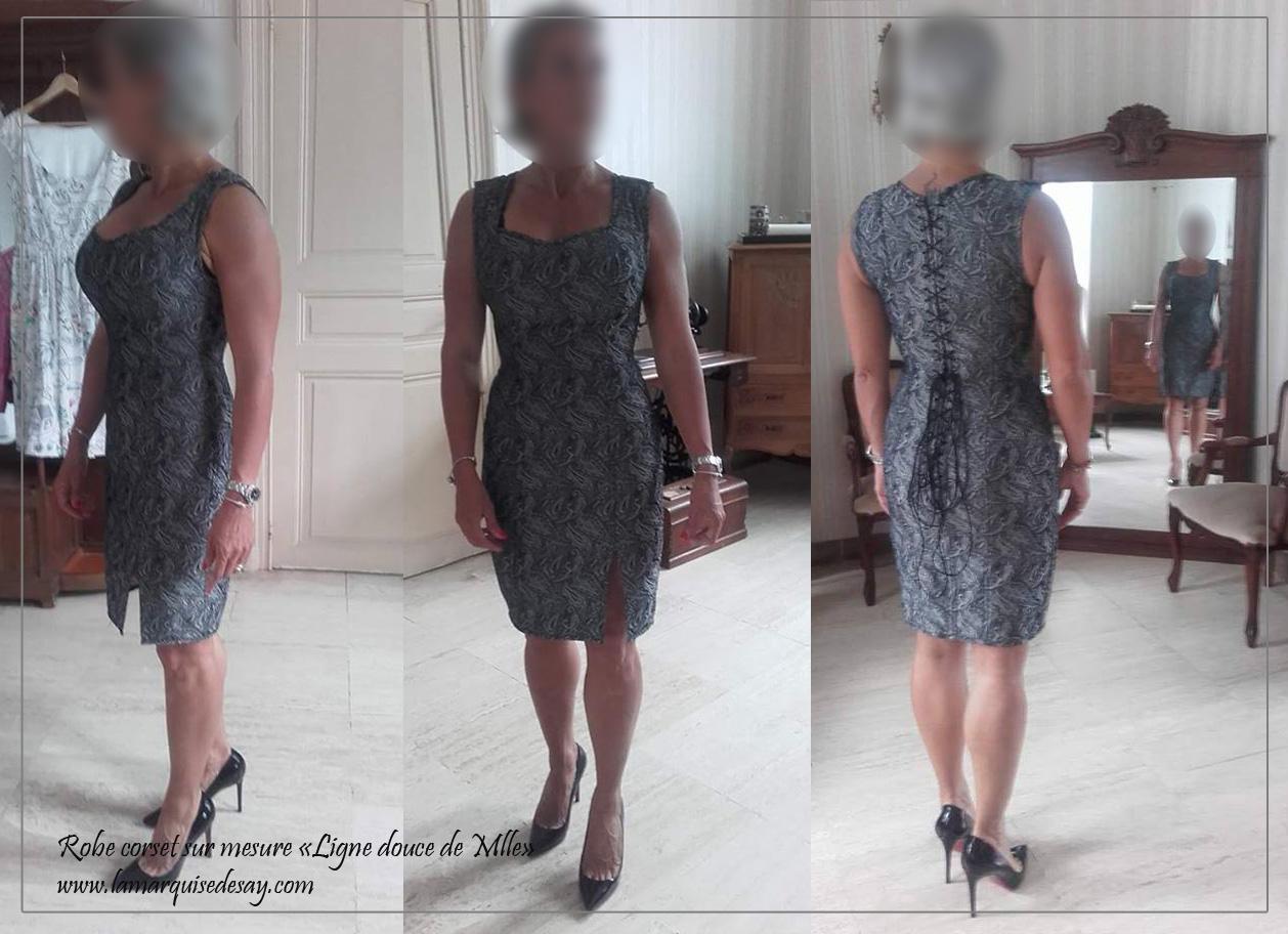 Robe corset LIGNE DOUCE DE MLLE - Gris métalisé