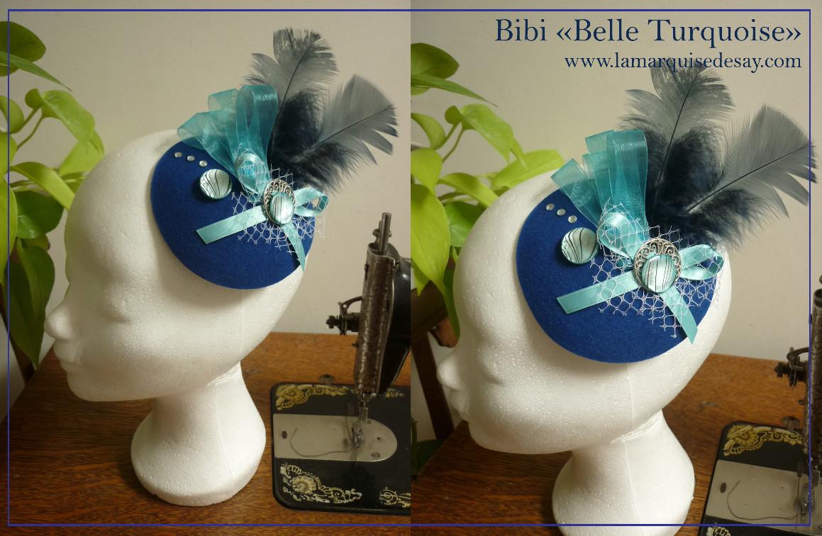 Bibi Belle Turquoise - feutre bleu