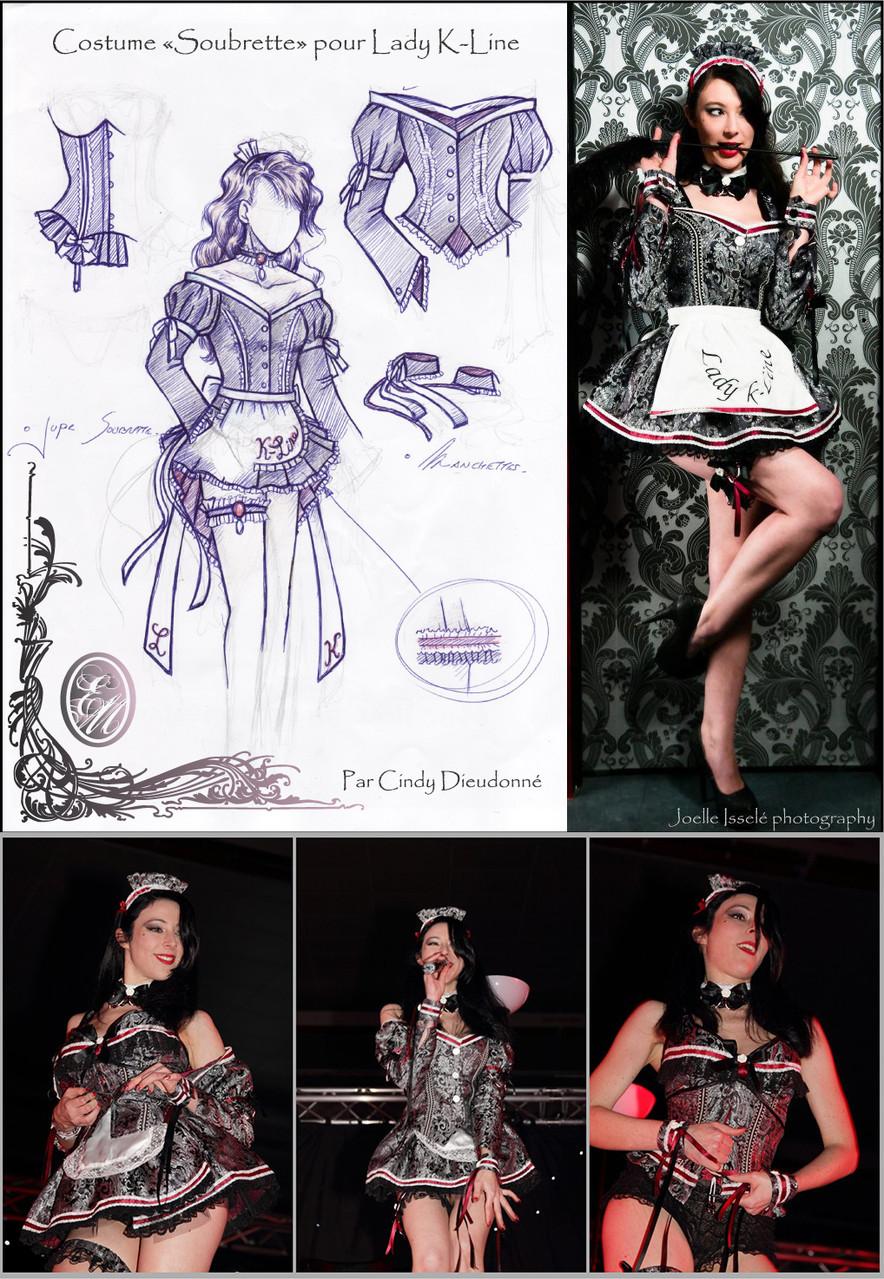 Costume de scène SOUBRETTE - Ruby Colibri