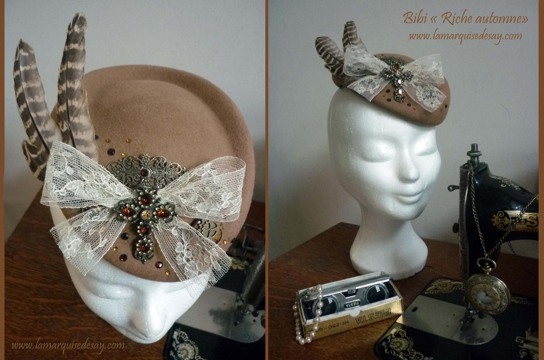 Bibi Riche automne - Feutre brun clair