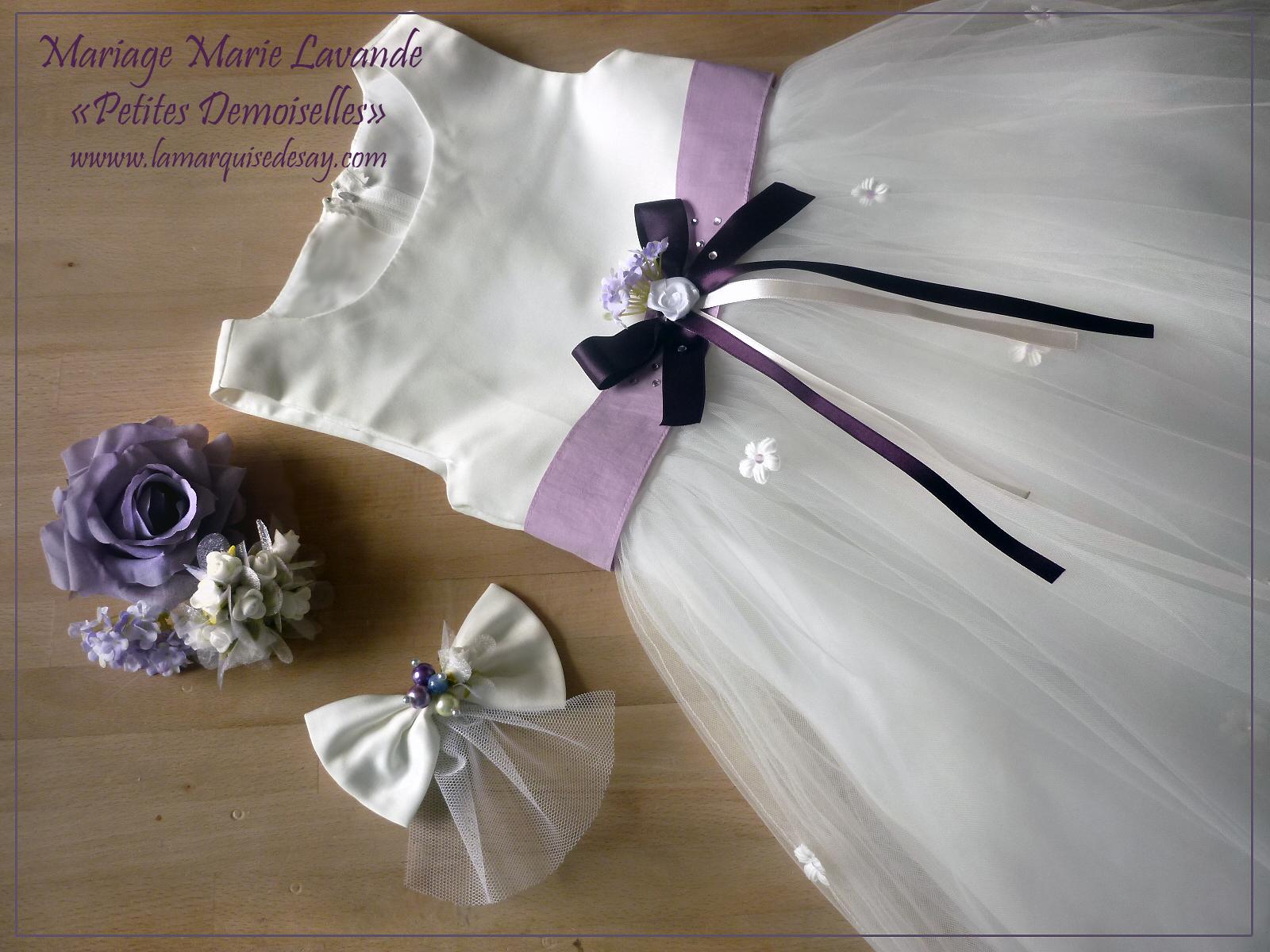 Demoiselle d'honneur avec sa voilette - Assortie à la mariée