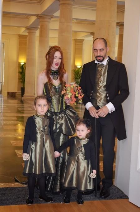 Ensemble pour le mariage STEAMPUNK avec la confection des tenues des enfants