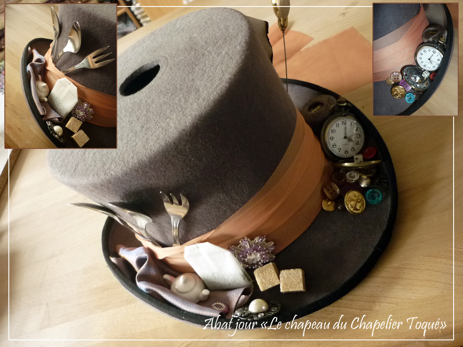 Abat jour chapelier - chapeau en feutre, haut de forme