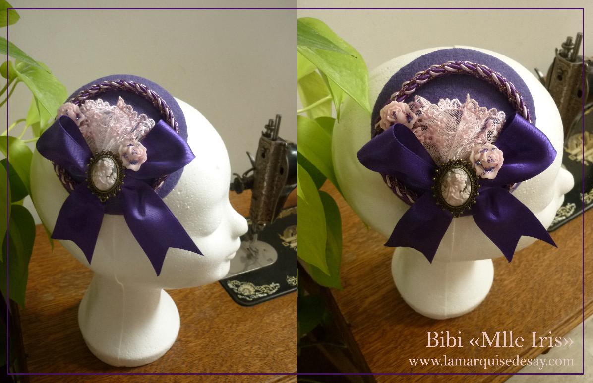 Bibi Mlle Iris - feutre mauve