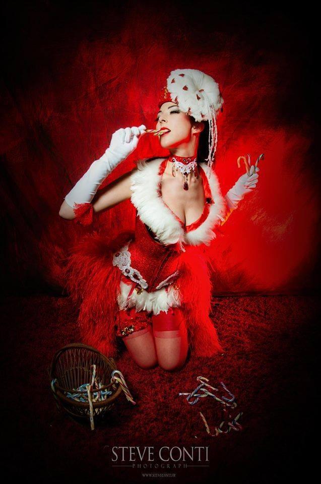 Costume de scène CHRISMAS (principalement corset) - Ruby Colibri