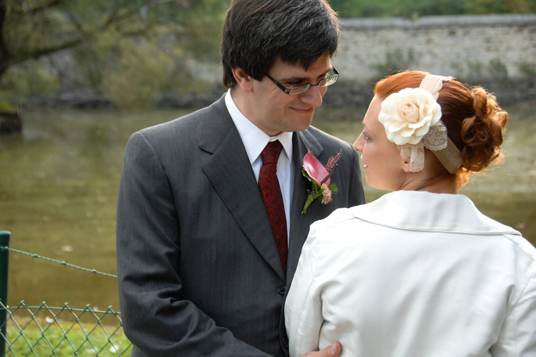 Coiffe et veste de la mariée VINTAGE