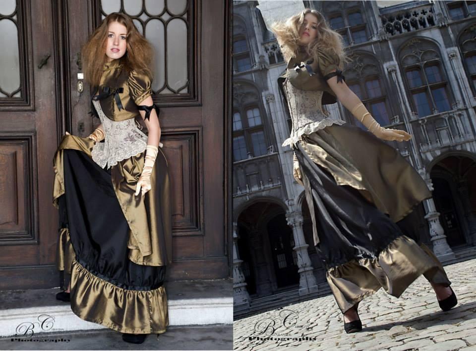 Ensemble A L'AUBE D'IRIS (corset, boléro et jupe)