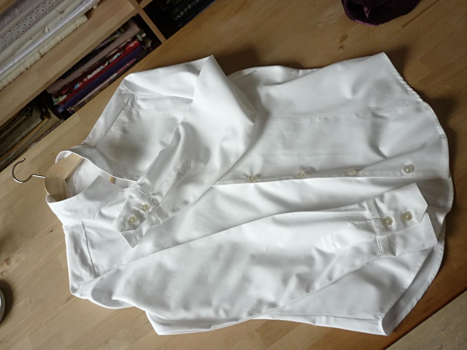 Chemisier pour homme réalisé suivant base d'une ancienne chemise du client