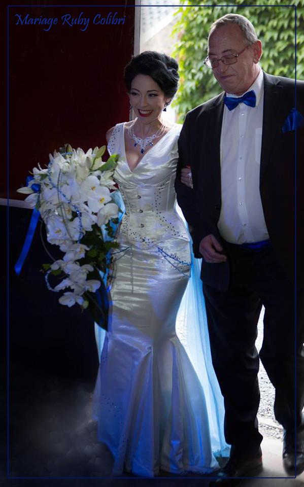 Robe de mariage BLEU & BLANC