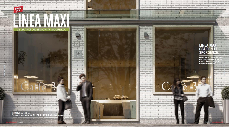 Козырек цельностеклянный LINEA MAXI - New 2018 / Faraone Srl