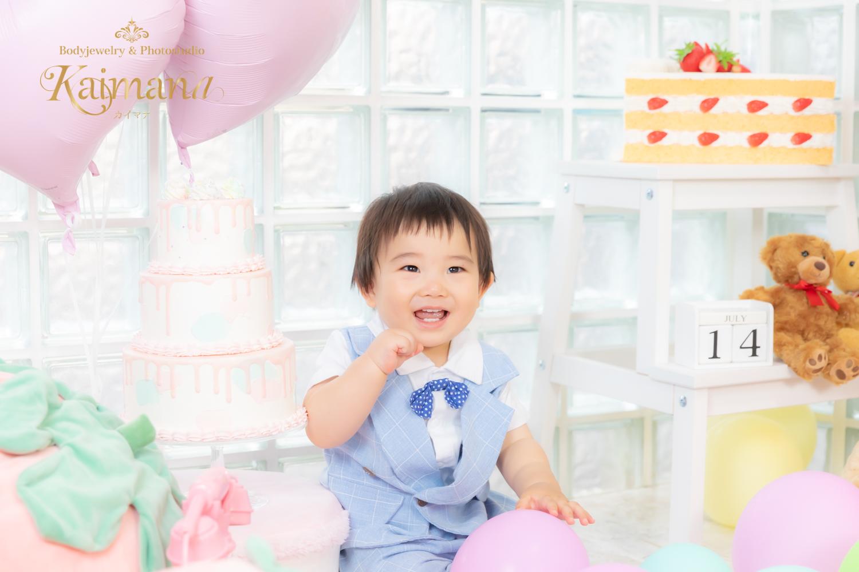 1歳バースデー撮影│男の子