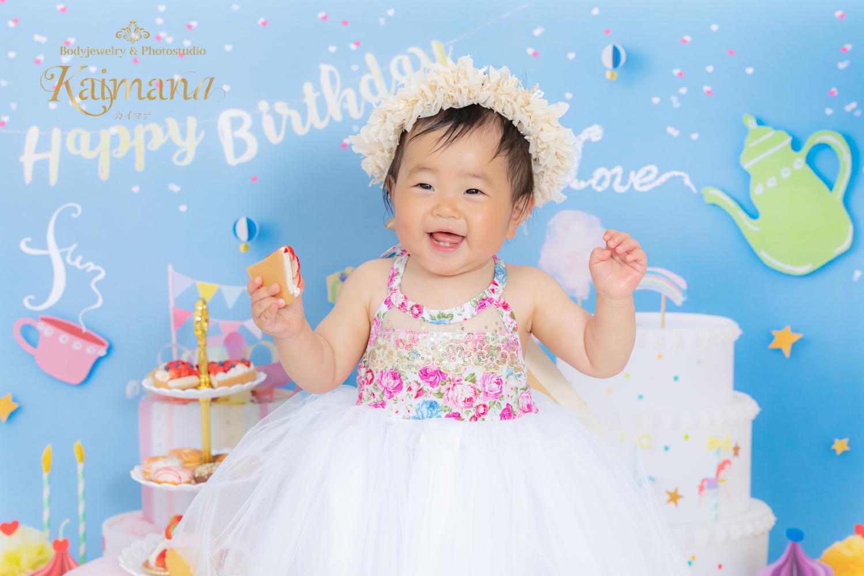 1歳バースデー撮影│女の子