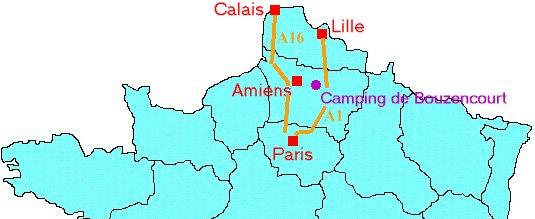 Camping à 1heure de Paris, Calais, Lille, dans la vallée de la Somme à proximité d'Albert, Amiens, Péronne, Bray-sur-Somme...