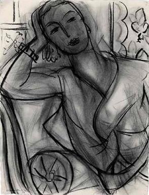 Porträtskizze von Matisse 1936