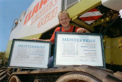 Foto Robert Karlstetter Meisterprüfung in Landmaschinenmechaniker Handwerk und Spengler