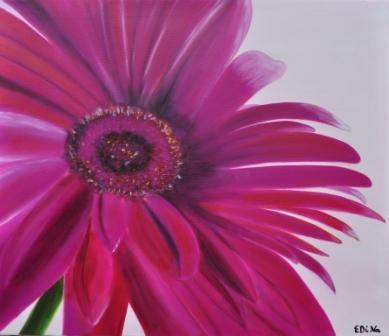 Blume in Pink Öl auf Leinwand, 70 x 60, Auftragsarbeit, Preis: 110,-€ -