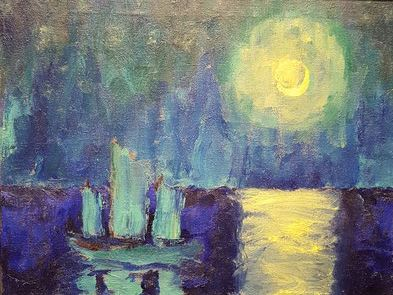 Emil Nolde - Moonlit Night